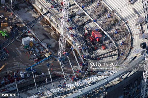 Work continues on Tottenham Hotspur's New Stadium at White Hart Lane on January 18 2018 in London England