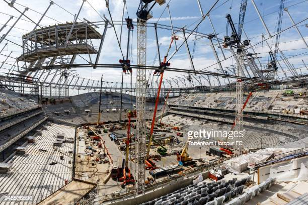 Work continues on Tottenham Hotspur's New Stadium at White Hart Lane on April 17 2018 in London England