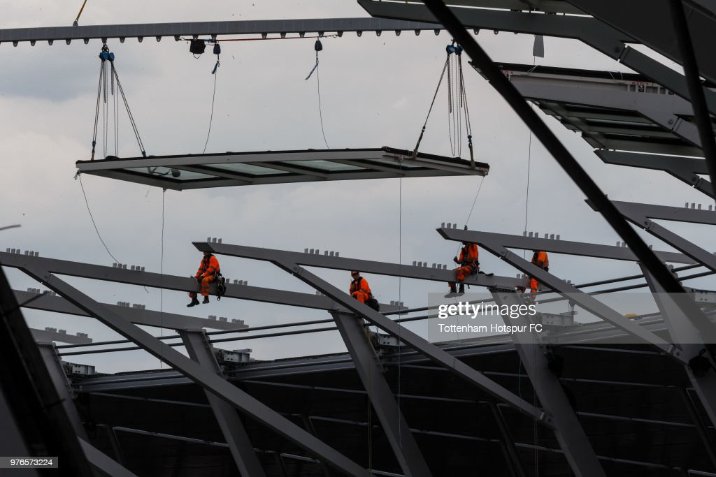 Work continues on Tottenham Hotspur's new stadium at White Hart Lane on June 13, 2018 in London, England.