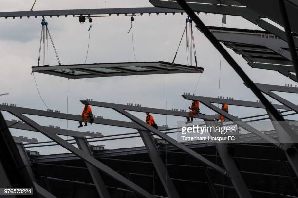 Work continues on Tottenham Hotspur's new stadium at White Hart Lane on June 13 2018 in London England