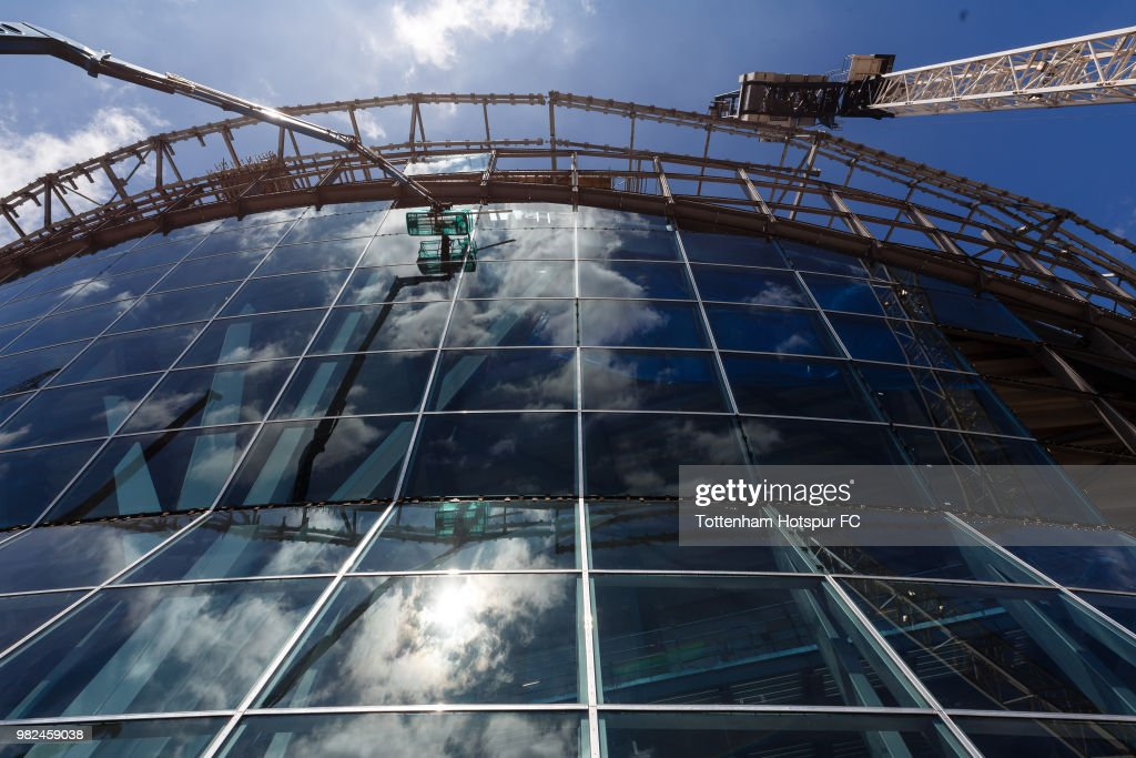 Work continues on Tottenham Hotspur's new stadium at White Hart Lane on June 20, 2018 in London, England.