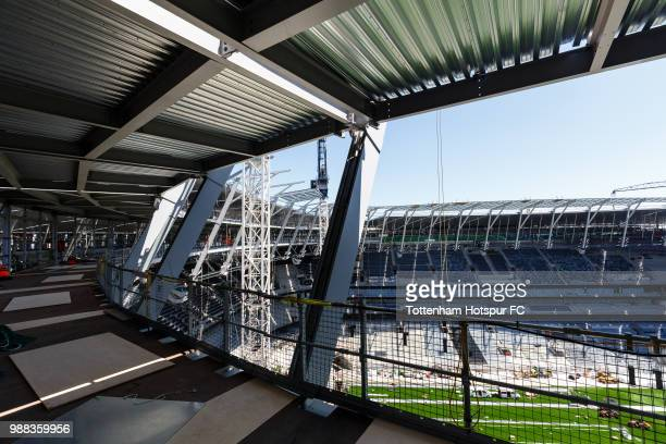Work continues on Tottenham Hotspur's new stadium at White Hart Lane on June 27 2018 in London England