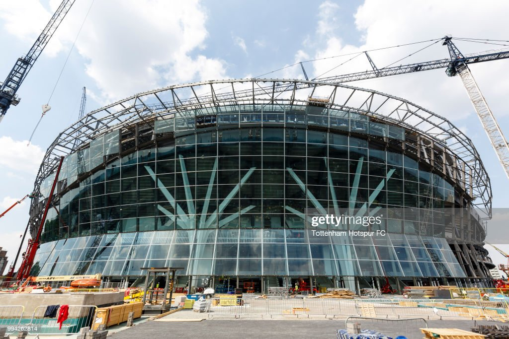 Work continues on Tottenham Hotspur's new stadium at White Hart Lane on July 5, 2018 in London, England.