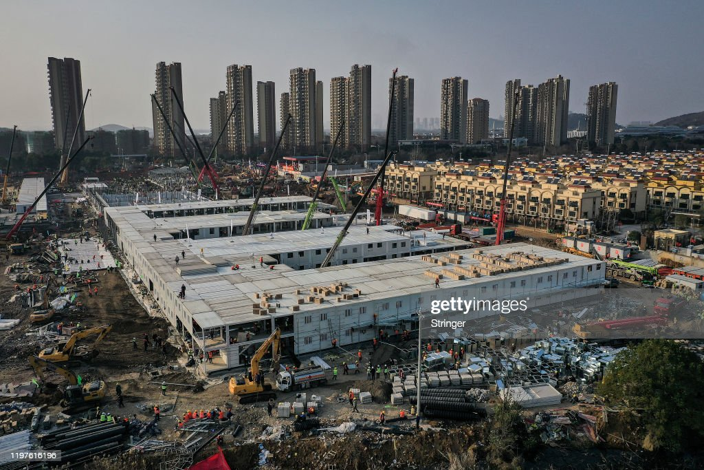 Two New Hospitals Under Construction In Wuhan : News Photo