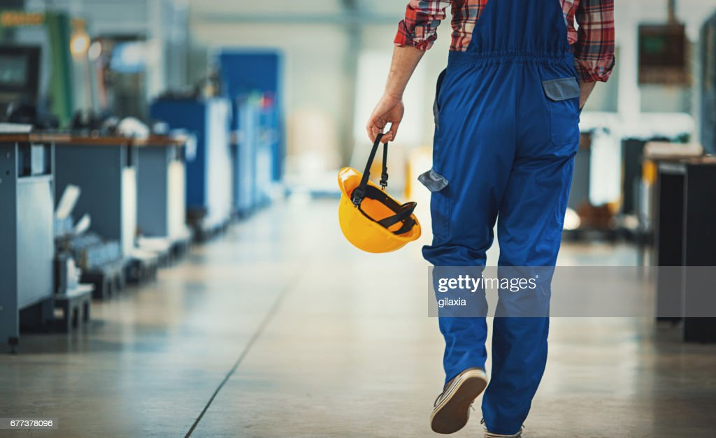 Work day at a plant. : Stock Photo