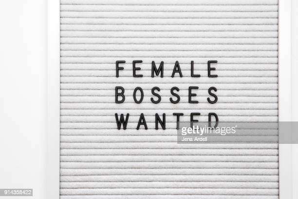 Work Equality Females Bosses Wanted Letterboard