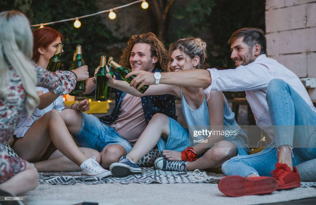 Work hard, party harder! : Stock Photo