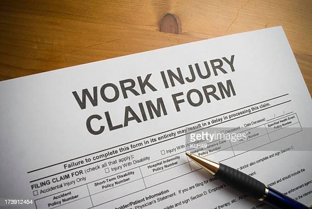 Work Injury claim form.