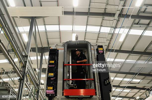 Work is carried out on the new Intercity Express trains at the Hitachi Rail Europe site on December 9, 2016 in Newton Aycliffe, United Kingdom. The...