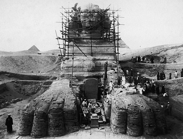 Restoring The Sphinx Wall Art