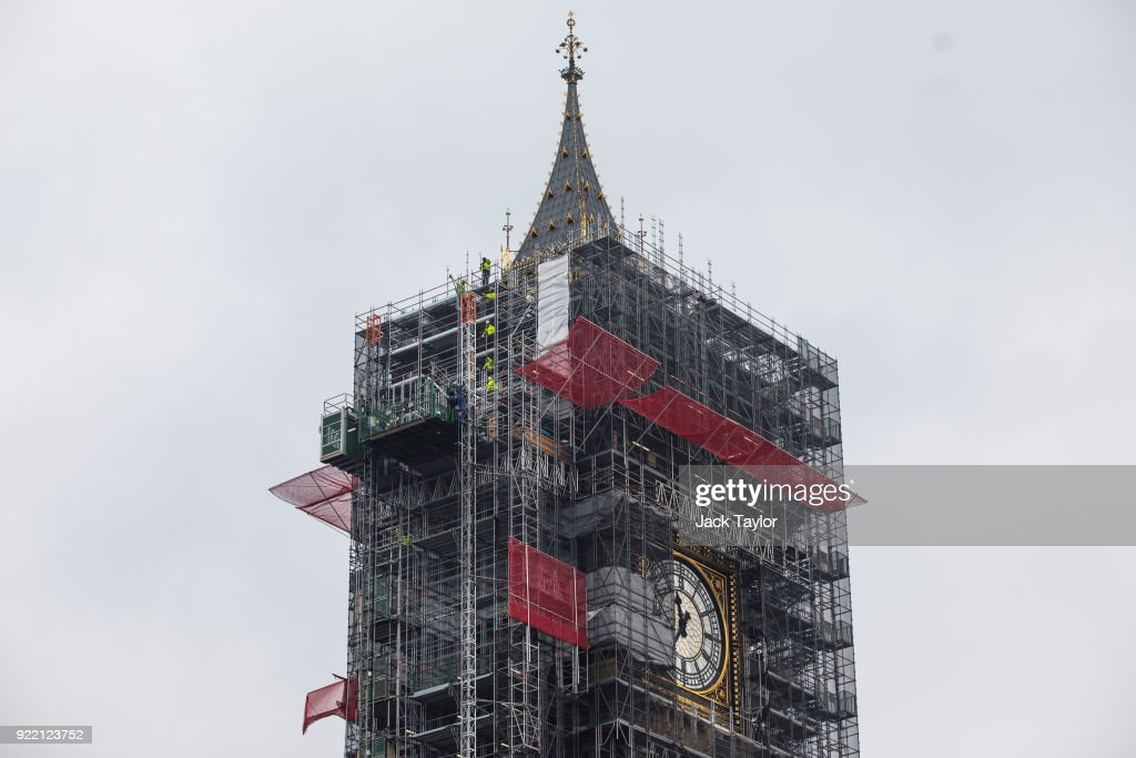 Work Progresses On The Elizabeth Tower And Big Ben