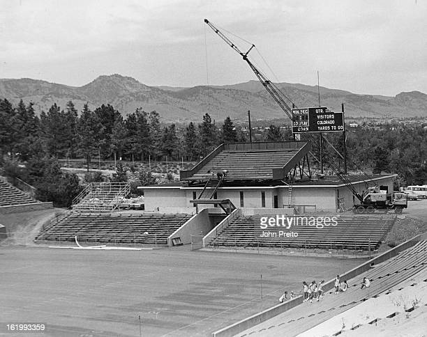 AUG 18 1972 AUG 20 1972 Work nears completion on North stand expansion of Colorado's Folsom Field