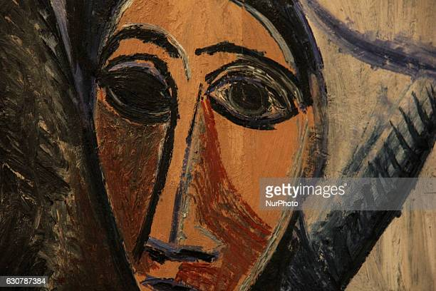 Work of art quotBuste de femme ou marin Etude pourquot les demoiselles d'Avignon quotby Pablo Picasso during Pablo Picasso exhibition held in Rio de...