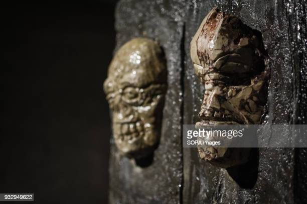 A work of art seen at the exhibition 54 artists are inspired by 'The Walking Dead' and they present their own perspective in the postapocalyptic and...