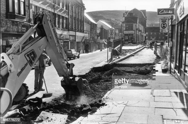Work on the pedestrianisation of Market Square 7th November 1990
