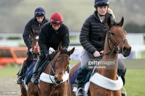 A work rider on Honeysuckle at Cheltenham Racecourse on March 09 2020 in Cheltenham England