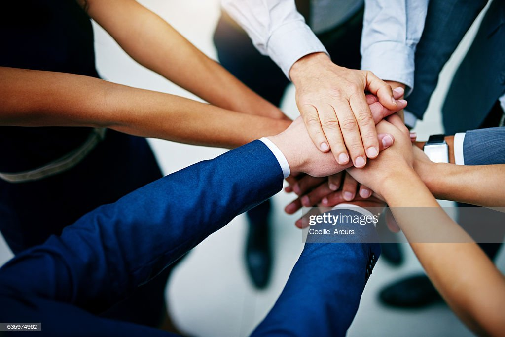 Work together to win together : Stock Photo