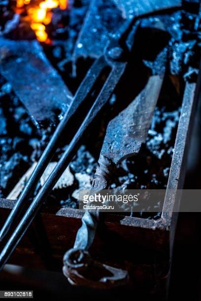Work Tools In Blacksmith Workshop