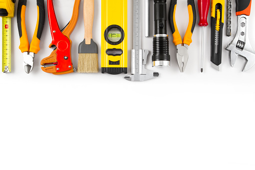 Work Tools on Isolated White Background 638750674