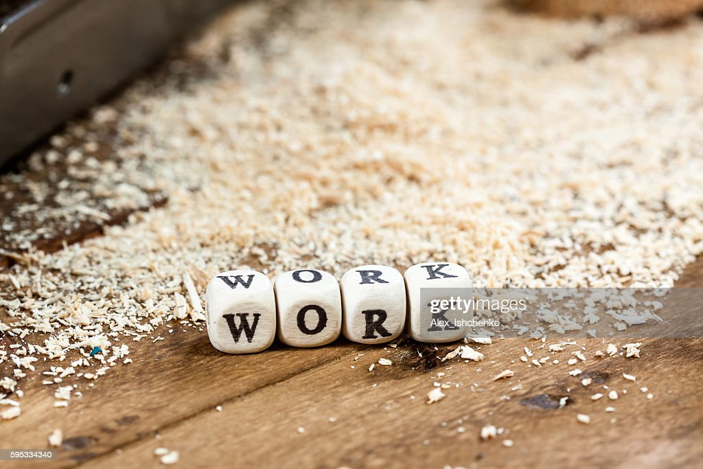 work word written on a wooden block stock photo getty images