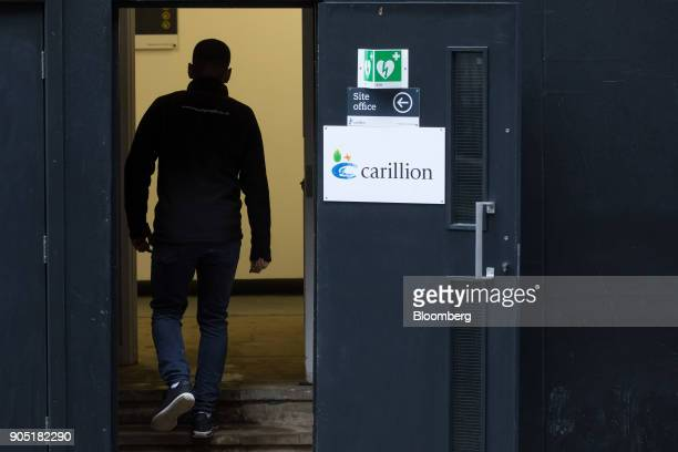 A worker arrives at the Arundel Great Court development operated by Carillion Plc in London UK on Monday Jan 15 2018 Carillion a UK construction...