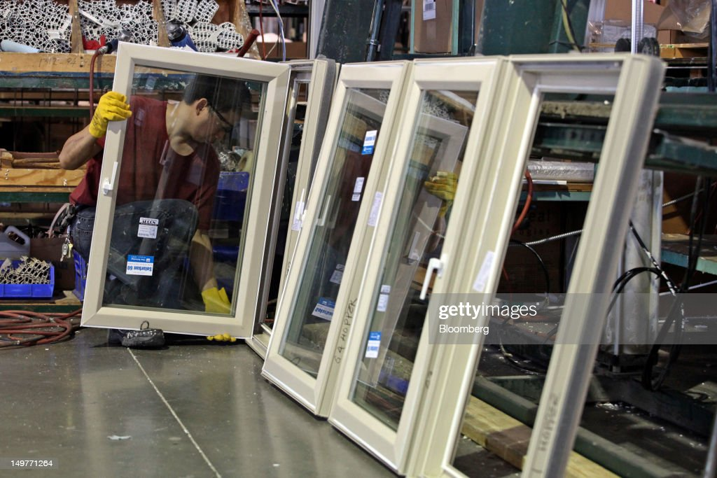 A Worker Assembles Window Frames At Crystal Windows U0026 Doors IL Manufacturer  In Chicago, Illinois