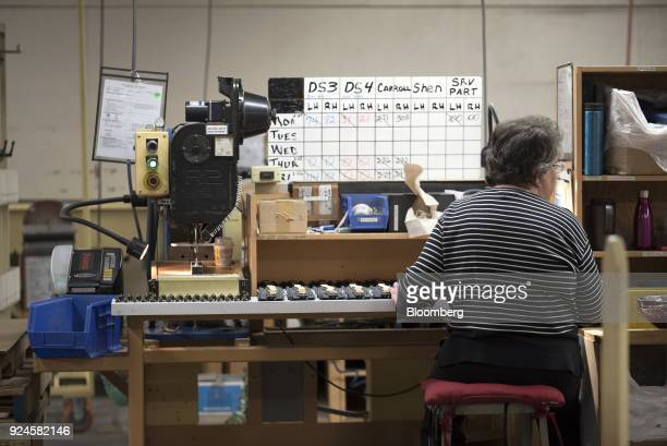A worker assembles window latches at the Pella Corp manufacturing facility in Pella Iowa US on Thursday Feb 22 2018 The US Census Bureau is scheduled...