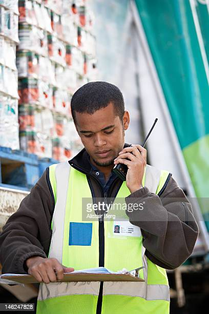 Worker at a food distribution warehouse