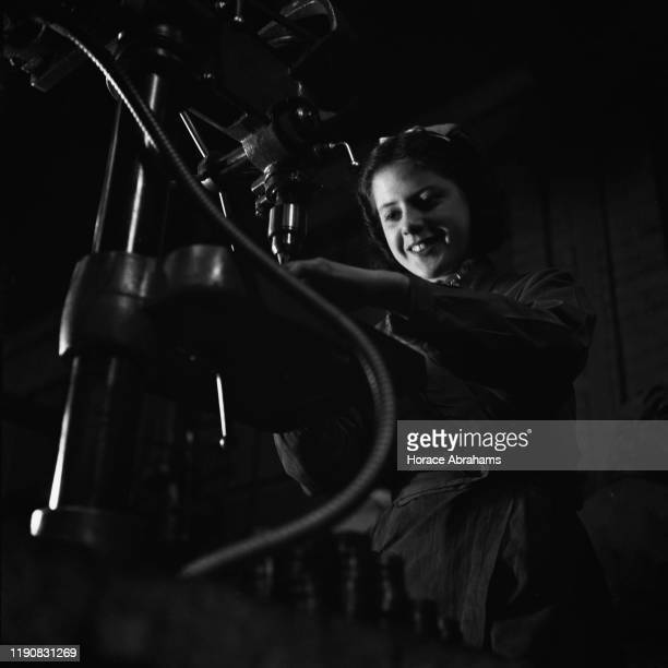 A worker at a steel foundry in the UK during World War II April 1941