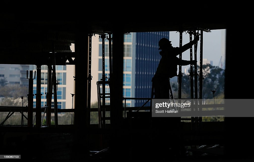 A worker at an upscale apartment project is seen during construction in the Upper Kirby area on January 7, 2013 in Houston, Texas. Houston's success with job growth in recent years has placed the city among the top markets in the country for elevated income levels, according to reports.