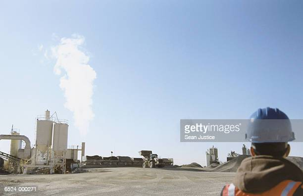 Worker at Asphalt Plant