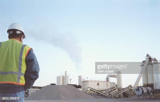 Worker at Asphalt Plant