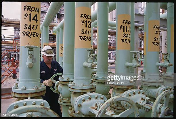 Worker at Exxon Refinery