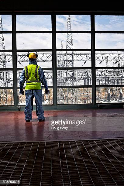 Worker at power plant