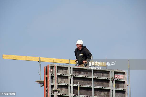 Worker busy in a project