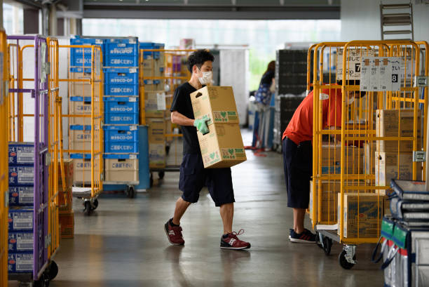 JPN: Inside Logistics Center As Consumer's Co-op Flooded with Delivery Orders