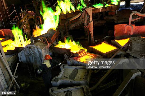 A worker castes anodes at the Hayden smelter The small mining communities of Kearny and Hayden Arizona are in the heart of the Copper Basin in...
