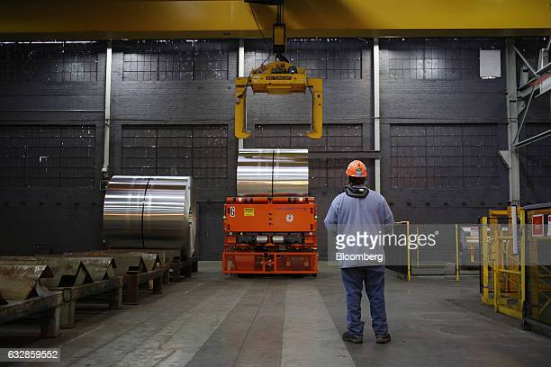 Operations Inside An Arconic Inc Aluminum Coil Manufacturing