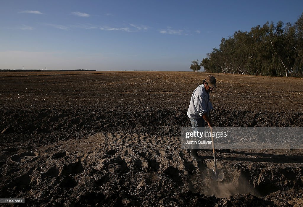 California's Central Valley Heavily Impacted By Severe Drought : Nieuwsfoto's