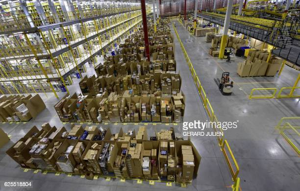 60 Top Amazon Shipping Center Pictures Photos And Images Getty Images