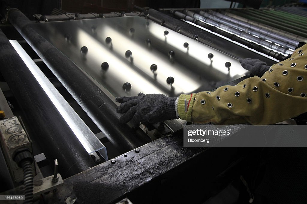 Operations At Tru Vue Glass Coating and Glazing Factory : News Photo