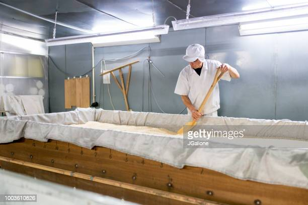 worker in a food processing factory - rice cereal plant stock pictures, royalty-free photos & images