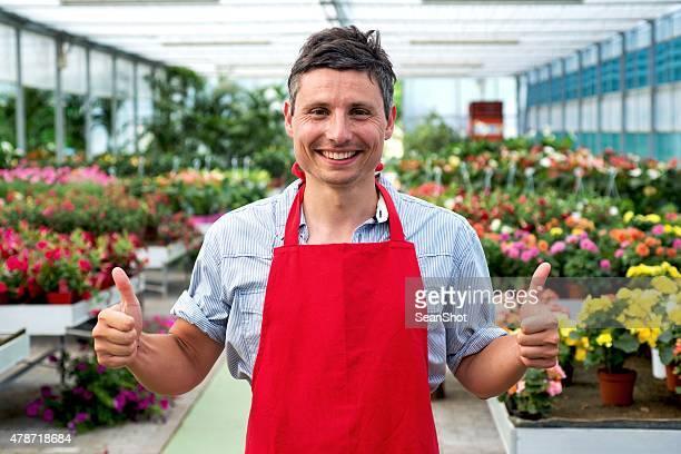 Worker in a Garden Center Store