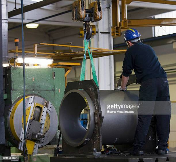 Worker in a steel factory