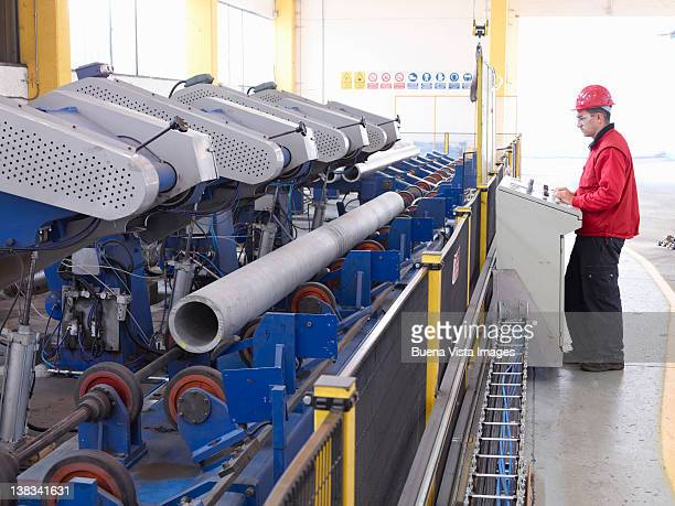 worker in a steel factory - scrutiny stock pictures, royalty-free photos & images