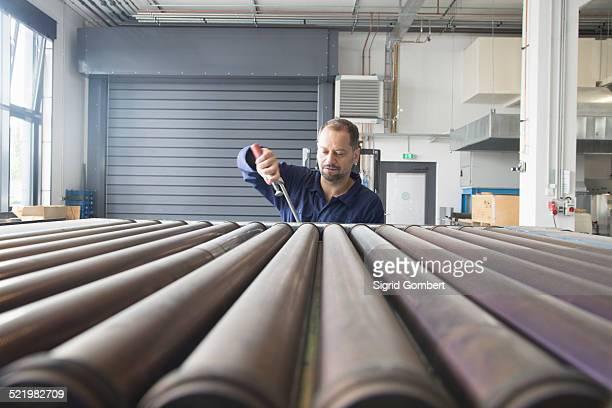 Worker in industrial plant