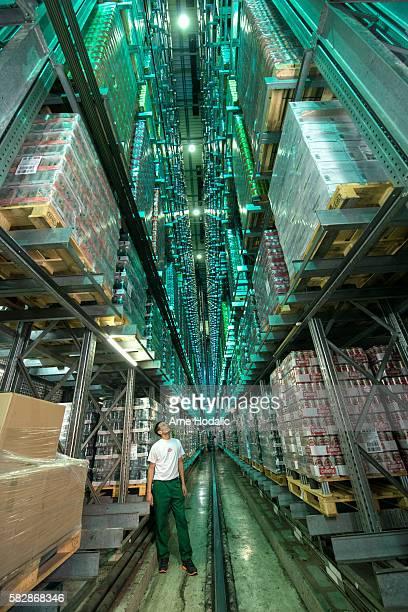 Worker in warehouse