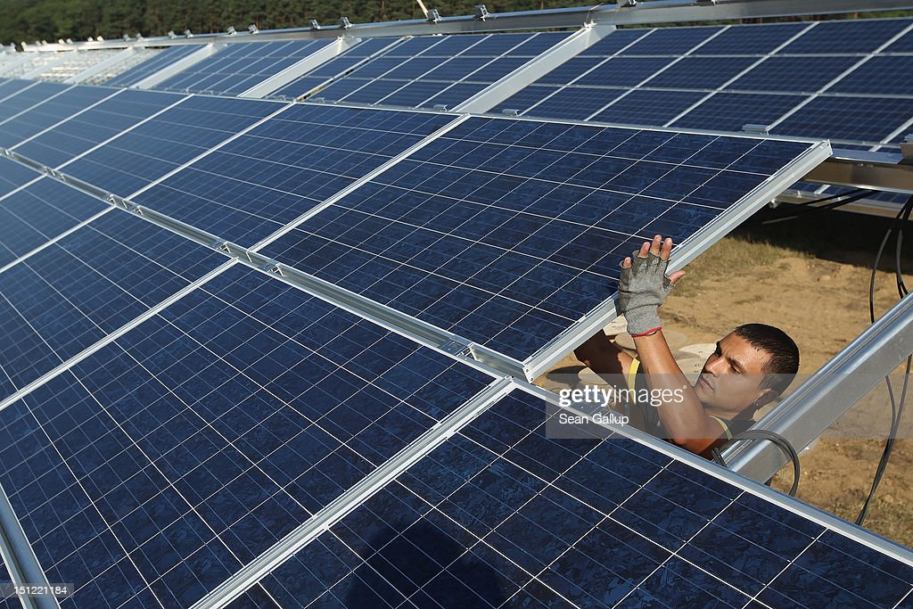 Germany Invests Heavily In Solar Energy : News Photo