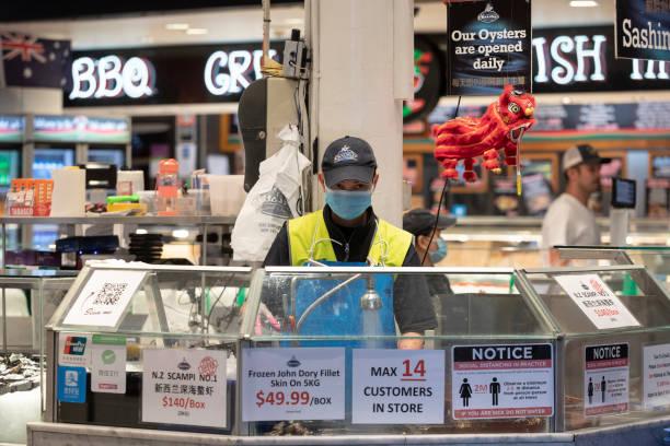 AUS: Good Friday Trade At Sydney Fish Market During Coronavirus