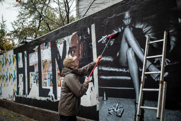 "DEU: ""Helmut Newton One Hunded"" Outdoor Exhibition Press Preview In Berlin"